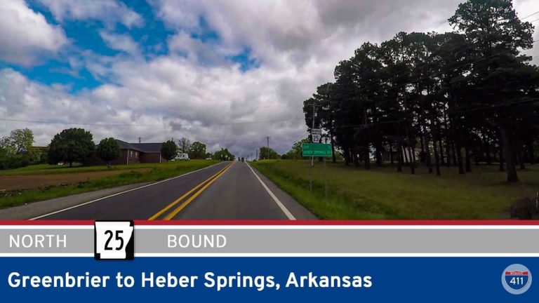 Arkansas Highway 25 - Greenbrier to Heber Springs - Arkansas