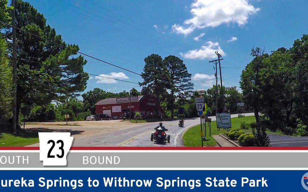 Arkansas Highway 23 – Eureka Springs to Withrow Springs State Park