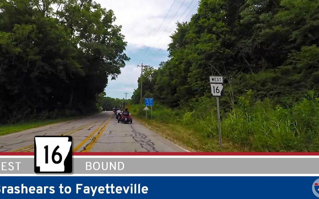 Arkansas Highway 16 – Brashears to Fayetteville