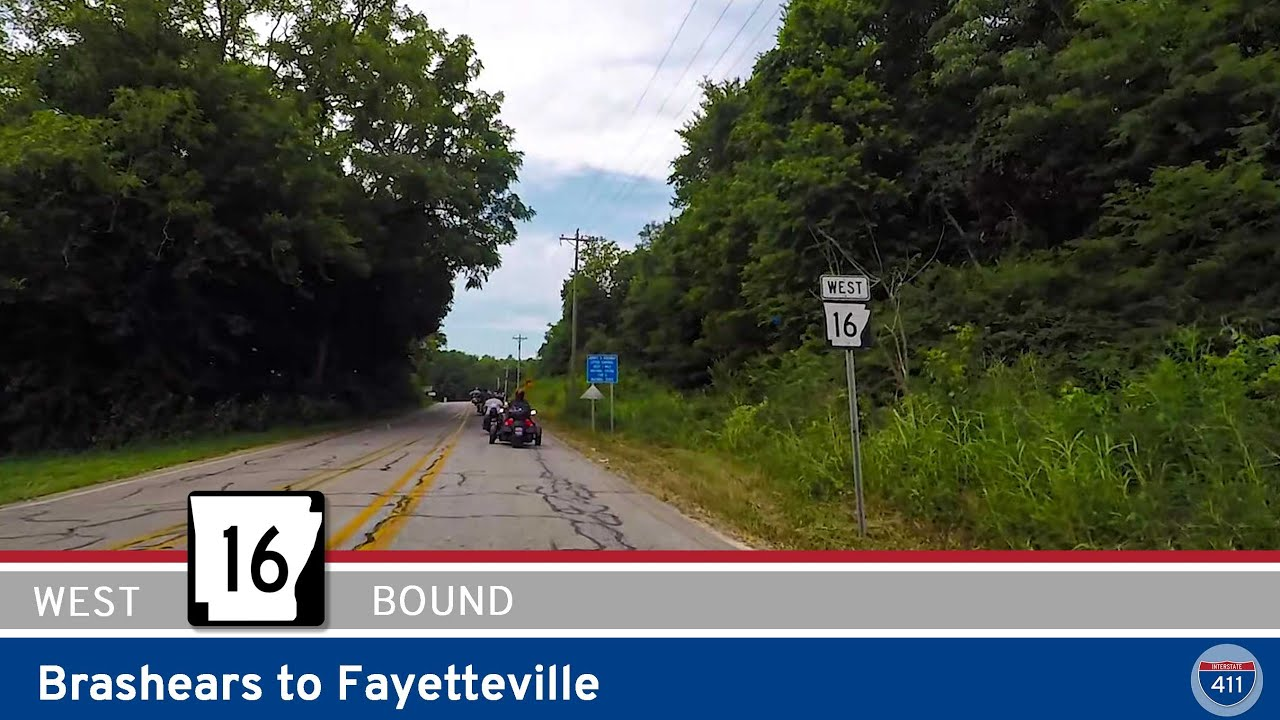 Arkansas Highway 16 - Brashears to Fayetteville