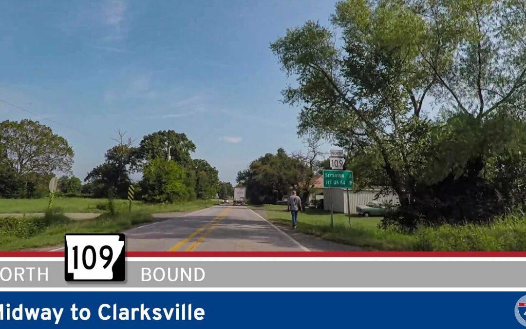 Arkansas Highway 109 – Midway to Clarksville