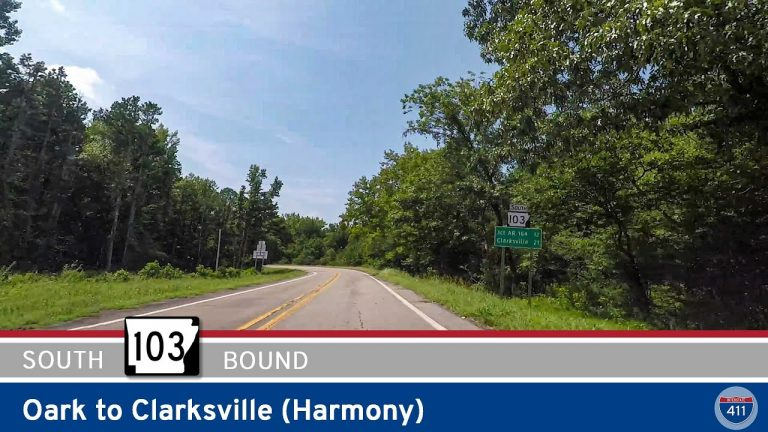 Arkansas Highway 103 - Oark to Clarksville (Harmony)