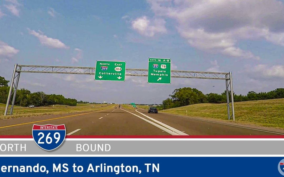 Northbound Interstate 269 – Hernando, MS to Arlington, TN