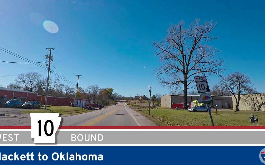 Arkansas Highway 10 – Hackett to Oklahoma