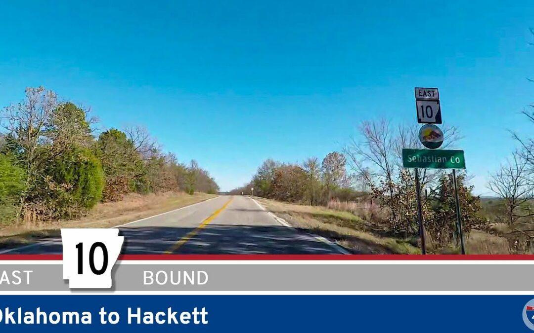 Arkansas Highway 10 – Oklahoma to Hackett