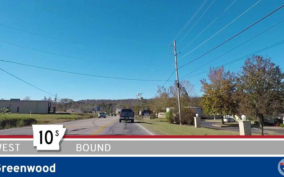 Westbound Arkansas Highway 10S – Greenwood