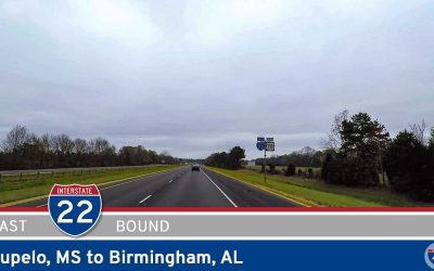 Interstate 22: Tupelo Mississippi to Birmingham Alabama
