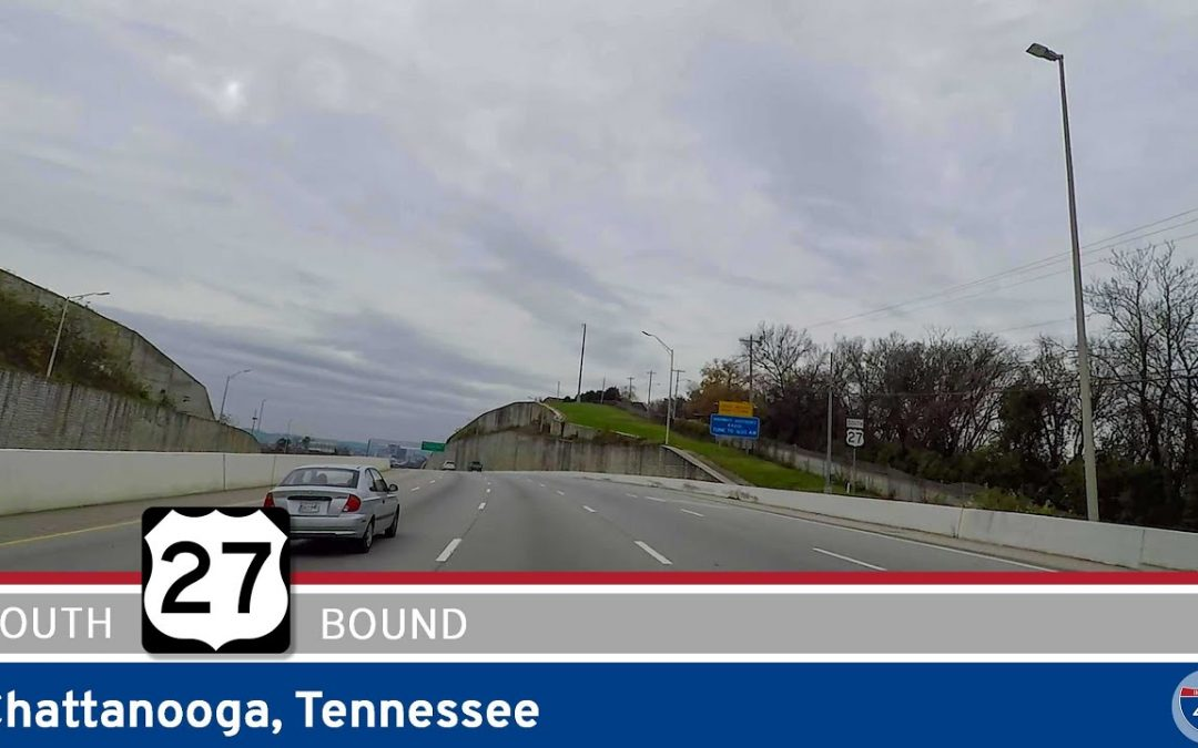 U.S. Highway 27: Southbound in Chattanooga, Tennessee