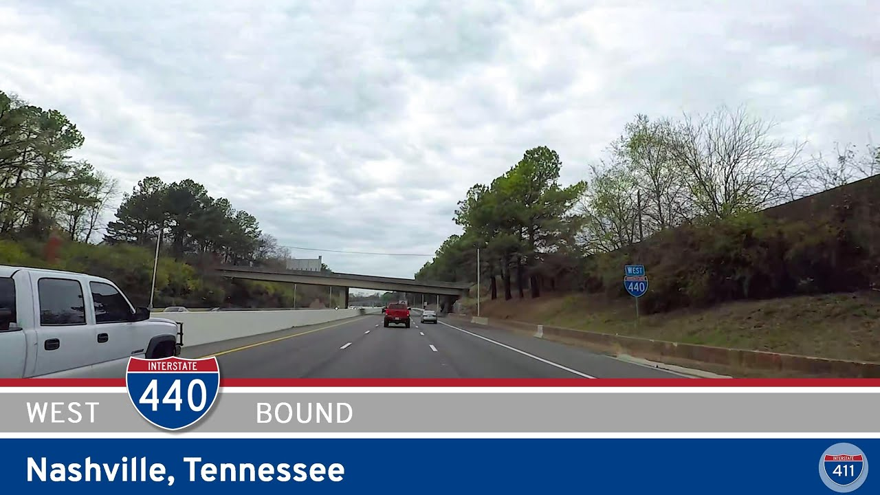 Drive America's Highways for 7.5 miles along westbound Interstate 440 in Nashville, Tennessee.