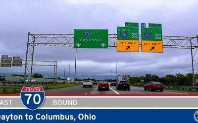 Interstate 70: Dayton to Columbus – Ohio