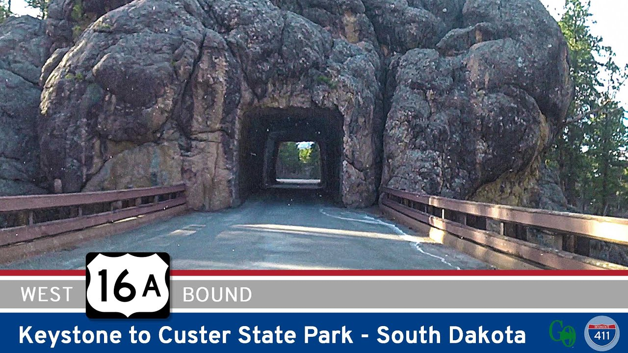 Drive America's Highways for 17 miles west along U.S. Highway 16A from Keystone to Custer State Park in the Black Hills of South Dakota 🛣️
