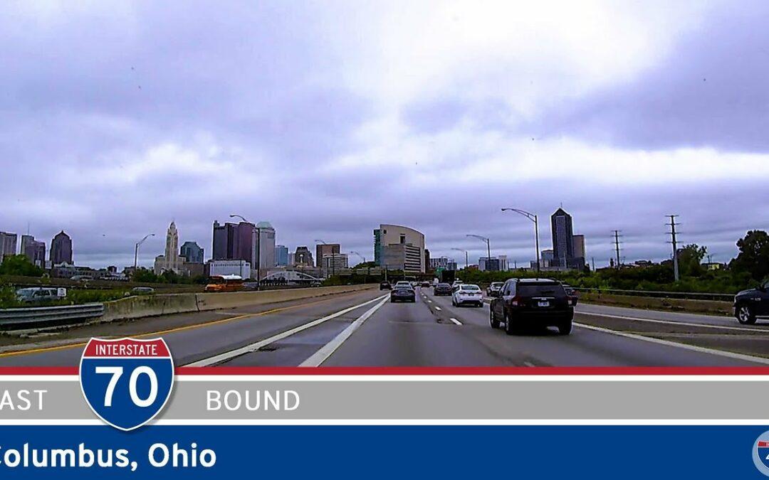 Eastbound Interstate 70 in Columbus – Ohio