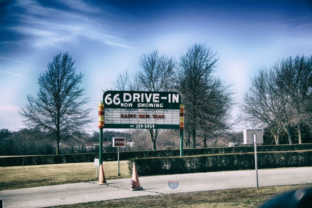66 drive-in sign