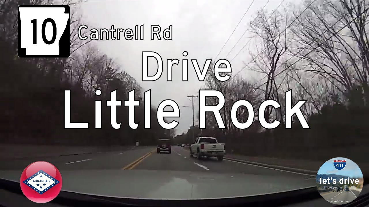 Arkansas Highway 10 (Cantrell Rd) from Downtown Little Rock to Mississippi Ave