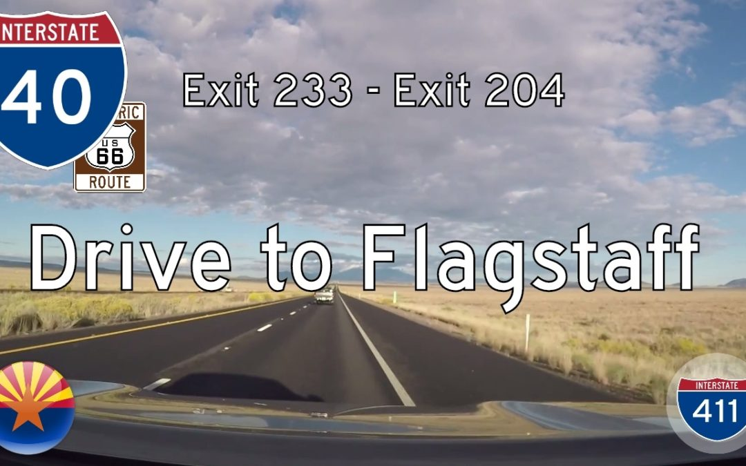 Interstate 40 – Meteor Crater to Flagstaff – Arizona