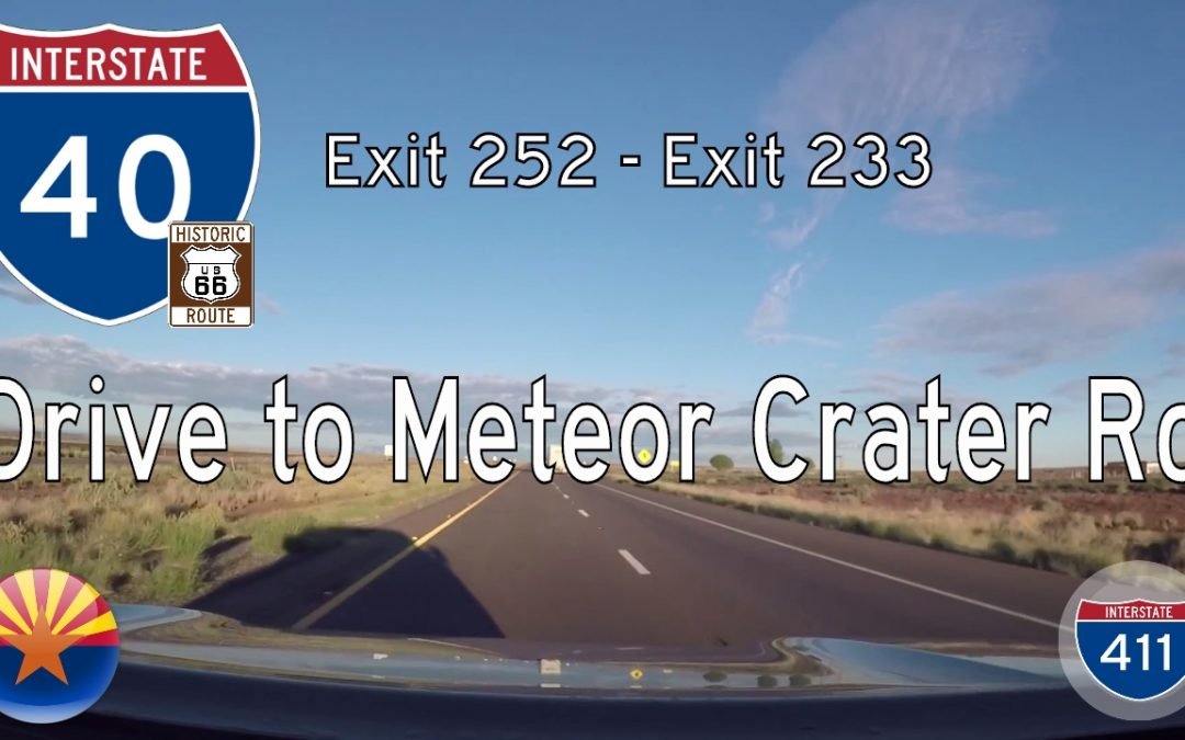Interstate 40 – Winslow to Meteor Crater – Arizona