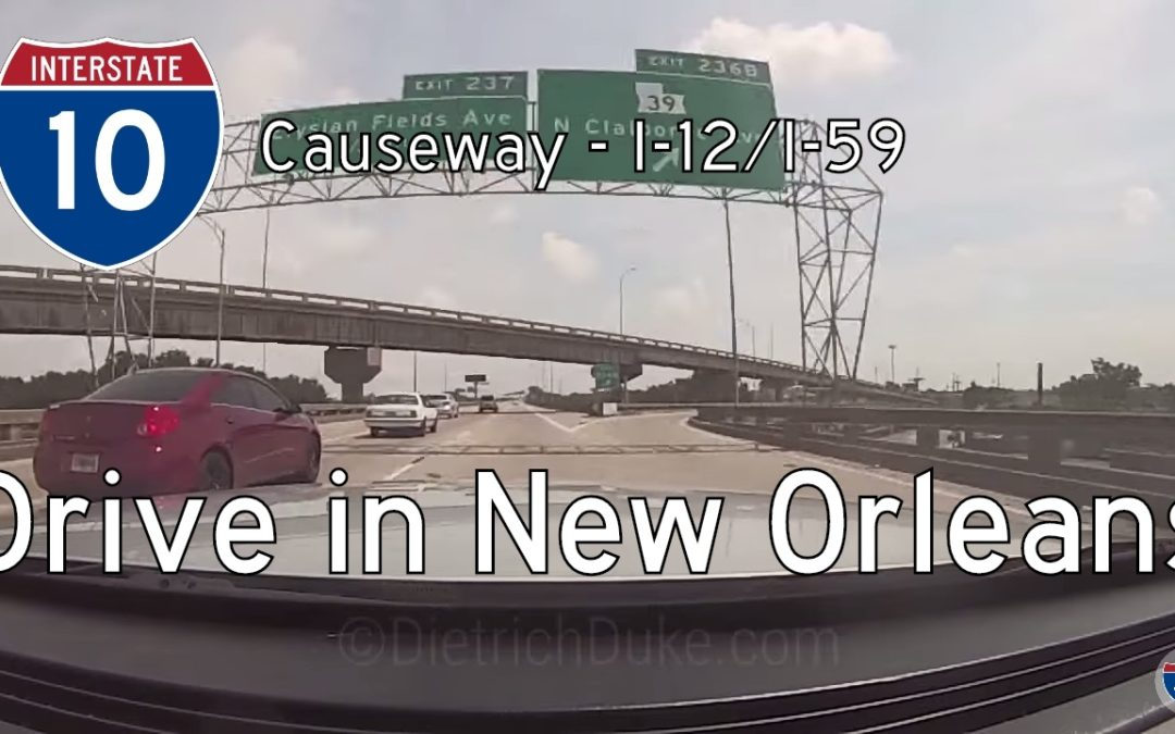 Interstate 10 – Mile 228 – Mile 267 – Louisiana
